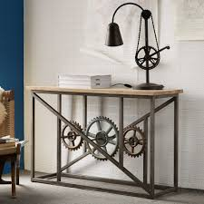 furniture with wheels. Indian Hub Evoke Iron And Wooden Industrial Console Table With Wheels Furniture O
