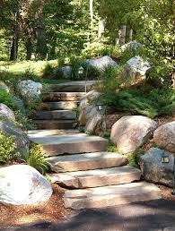 round garden stones stone entrance steps landscape traditional with outdoor lighting round stepping stones garden stepping