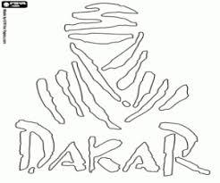 Kleurplaat Logo Van De Dakar Rally Kleurplaten