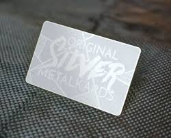 Steel Business Cards Stainless Steel Business Cards Metalkards Com