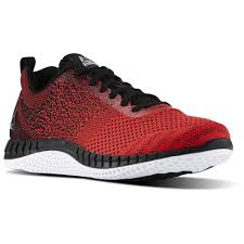 reebok shoes black and red. reebok - print run prime ultraknit primal red / black white pewter bs8589 shoes and a
