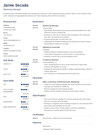 Marketing Experience Resume Marketing Resume Sample Complete Guide 20 Examples