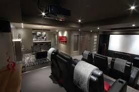 basement home theater ideas. Wonderful Ideas Refined Basement Bar And Home Theater With Dark Ambiance Design The  Electric Brewery Throughout Basement Home Theater Ideas