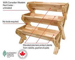 Amazon.com: CedarCraft Cascading Garden Planter - 3 Tier: Garden & Outdoor