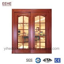 sliding wood door china internal top hung sliding wooden door with glass design sliding wood door off track