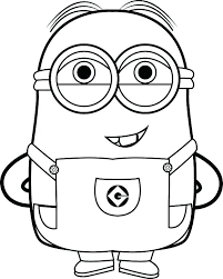 Coloring Minion Coloring Pages Free Printable Minions Despicable Me