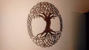 celtic tree of life metal wall art