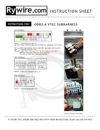 obd1 obd2 vtec subharness related items