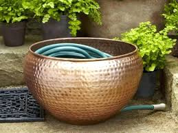 garden hose storage pot. Garden Hose Storage Pot Copper With Lid .