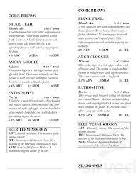 Menu For Tobermory Brewing Company Grill In Tobermory Ontario