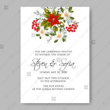 Wedding Invitation Templates Downloads Red And White Small Spring Floral Vector Wedding Invitation