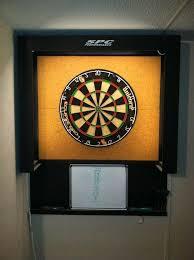 diy dartboard wall protection using mdf cork kitchen fluorescent lighting