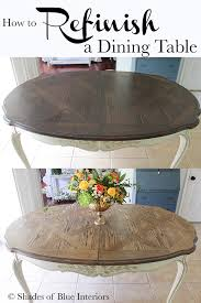 how to refinish a dining table shades