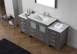 bathroom single sink vanities. virtu usa 72 inch dior bathroom vanity zebra grey with ceramic countertop integrated sink \u0026 brushed single vanities t