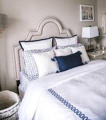 navy and white accent pillows by serena and lily