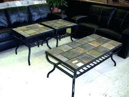 slate tile coffee table slate tile coffee table coffee table slate tiles iron with inlay top