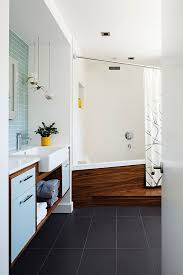 walnut bathroom vanity modern ridge: modern eclectic phinney ridge house in seattle love the large rectangle tiles