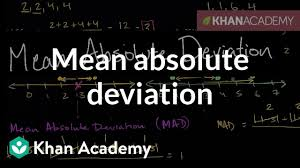 Mean Absolute Deviation Chart Mean Absolute Deviation Mad