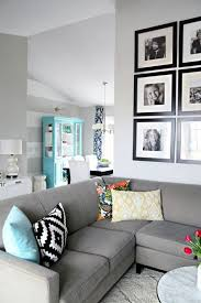 decorating with gray furniture. color scheme for the living room navy tiffany blue pop of yellow gray walls couch decorating with furniture