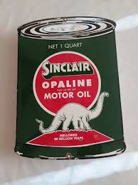 vine sinclair opaline motor oil oil can porcelain gas pump sign 1 of 8 see more