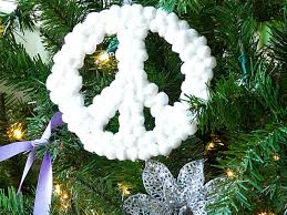 Peace Sign Bedroom Decor How To Make Peace Sign Christmas Ornaments How Tos Diy