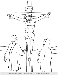 Sorrowful Mysteries Rosary Coloring Pages The Crucifixion Fancy