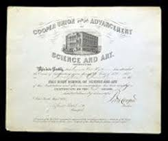 cooper union for the advancement of science and art to  cooper union for the advancement of science and art 1870 to 1876 diplomas loading zoom