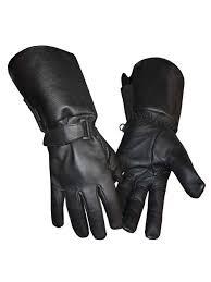 redline men s gauntlet style soft fleece lining leather gloves black g 053 com