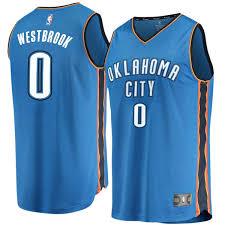 Edition Blue Russell - Replica Fast Break Westbrook City Icon Men's Branded Thunder Oklahoma Fanatics Jersey