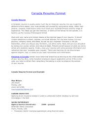 sample resume canada