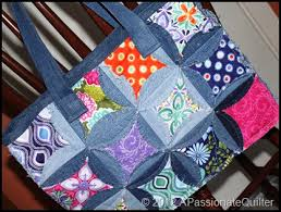 A Passionate Quilter: The Finished Denim Circle Rag BAG! & IMG_3058 Adamdwight.com
