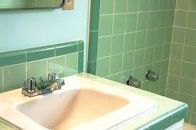 mint green bathroom sink tile vintage ideas around