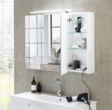 Schildmeyer 125353 Spiegelschrank 80 X 75 X 16 Cm Weiß Glanz