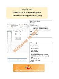 Vba Excel Book Microsoft Excel Computer Program