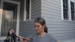 How To Hang Outdoor String Lights On Stucco How To Hang Outdoor String Lights The Home Depot