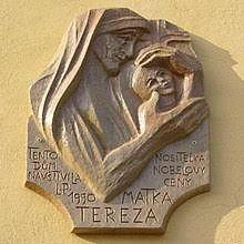 mother teresa  outdoor bas relief plaque plaque dedicated to mother teresa