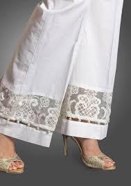 cotton lace bell bottom pants