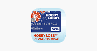 hobby lobby visa on the app