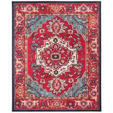 monaco red turquoise 11 ft x 15 ft area rug