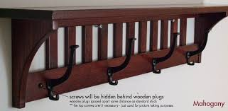 Mission Style Wall Coat Rack Coat Rack Mission 100hk Solid Oak Wood Wall Mounted Shelf Wall 12
