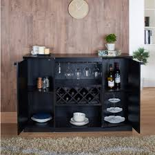 Wine Bar Storage Cabinet Wine Bar Buffet And Storage Cabinet With Center Glass And Wine