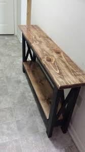 corner tables for hallway. Rustic Table Redo For The Hallway. Corner Tables Hallway