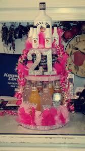 64176363 21st Birthday Alcohol Cake Girly Stuff 21st Birthday