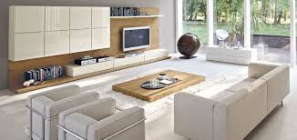 White Cabinets Living Room Smart Living Room Design With Wooden Tv Stand And Bookshelf Glossy