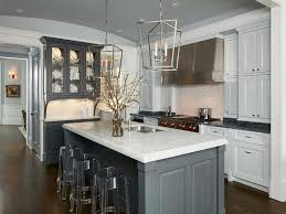 Superior Steel Gray Kitchen Island With Casper Ghost Bar Stools Images