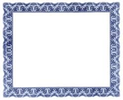 printable frame templates frame blank certificate blue psd blank certificates with borders