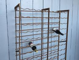 iron wine rack wall mounted. Large Wall Mounted Antique Wrought Iron Wine Rack Holds 162 Bottles On