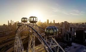 Blooper nine news melbourne odd camera movements 4/12/2018. News Melbourne Star Observation Wheel Docklands