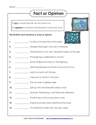Super Teacher Worksheets Fact And Opinion Worksheets for all ...