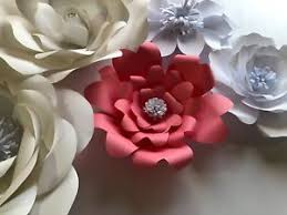 Small Paper Flower Templates Paper Flower Template 8 Small T8 Diy Ebay